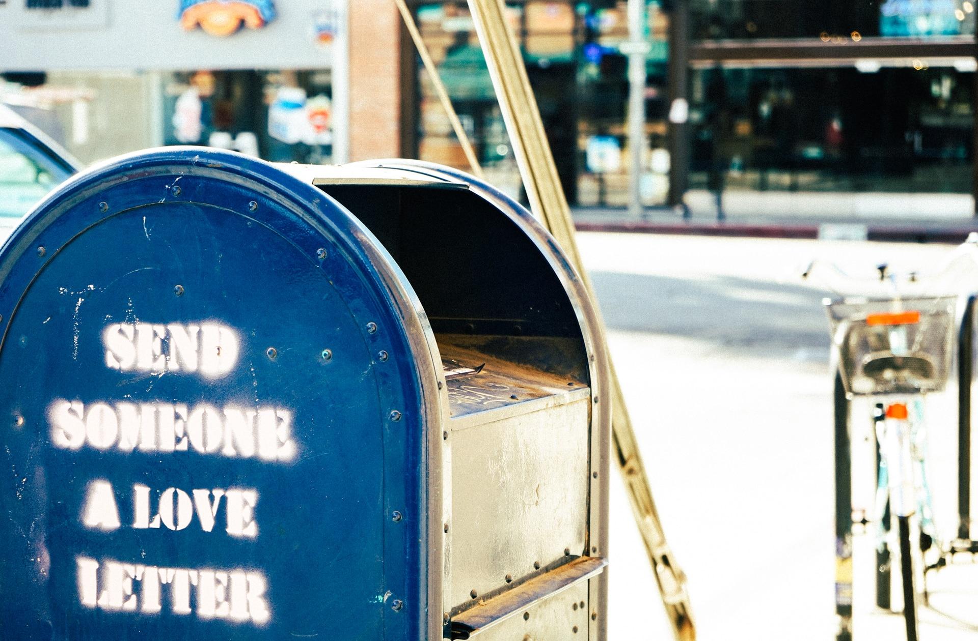 envelop letter post blauw